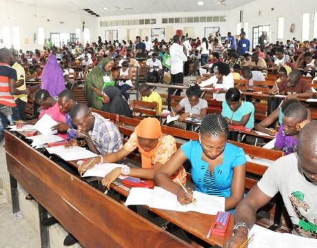 candidate writing Exam