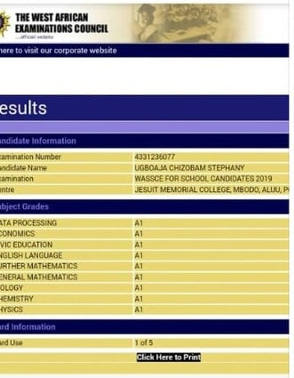 Astonished Teenager Emerges as Best 2019 WAEC Candidate