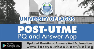 Unilag Post Utme Past Questions And Answers 2019/2020