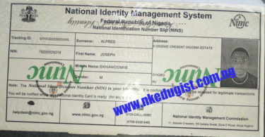 Check How to Enroll for National ID Card & Number (NIMC/NIN) For Free