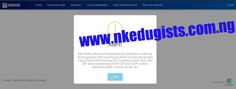 nekede admission portal