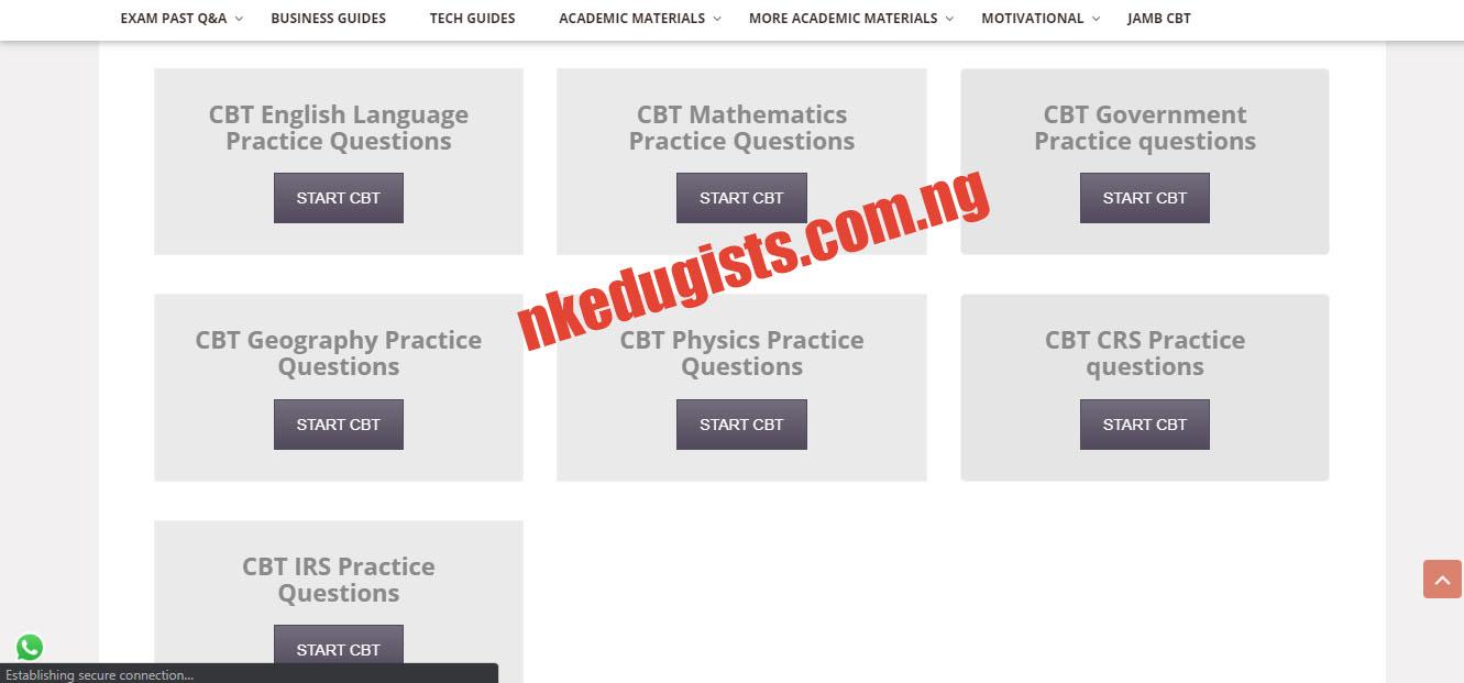 Jamb Online CBT Practice