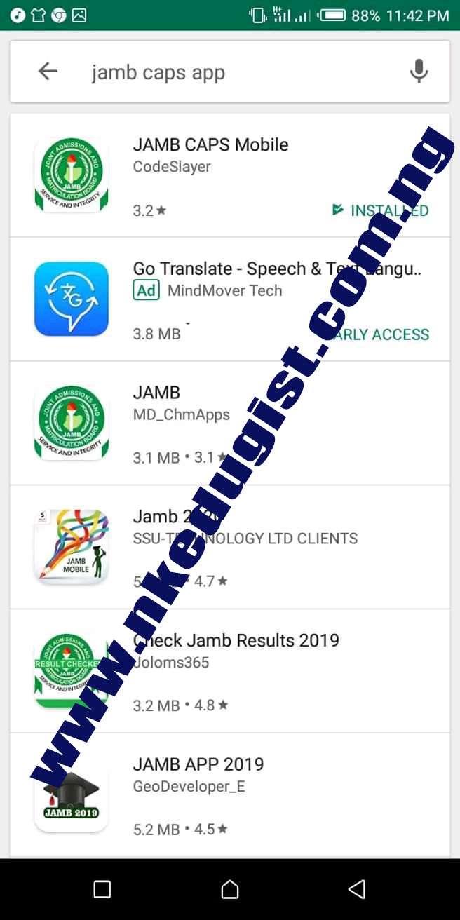 Enter Jamb Caps app