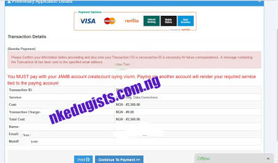 How to recover my jamb gmail password