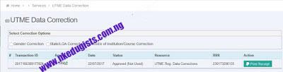 UTME/DE Data Correction Page
