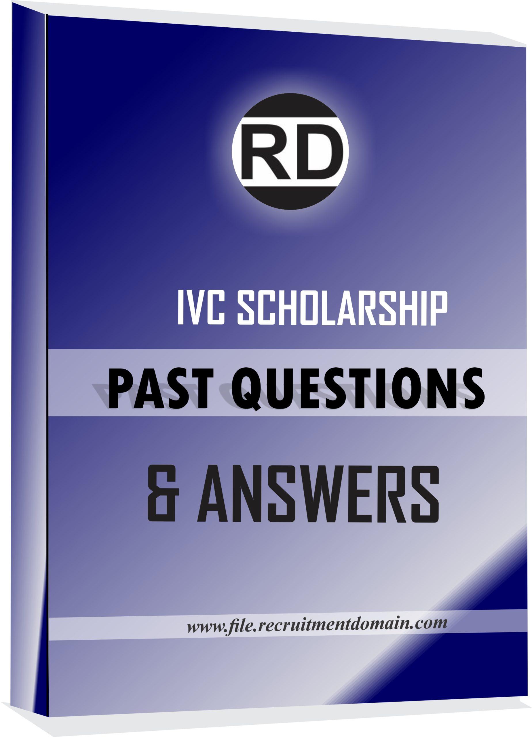 IVC Scholarship Past Questions Pdf