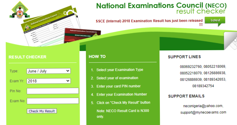 How to check BECE result