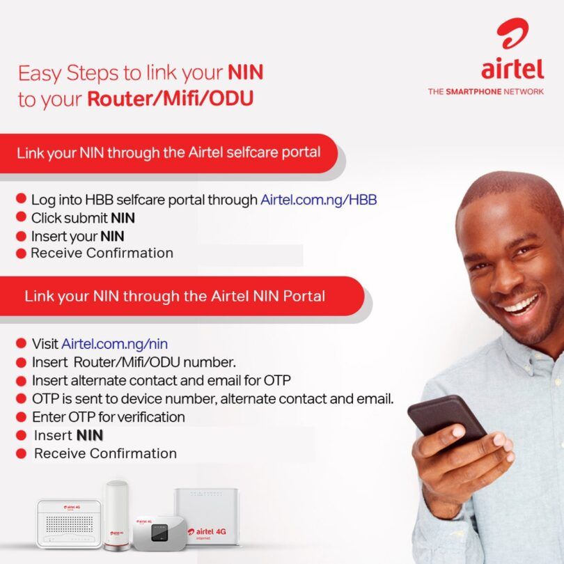 Airtel NIN registration code