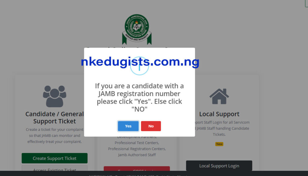 how to get my profile code for Jamb