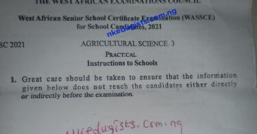 2021 Agricultural Practical Specimen